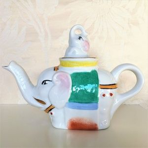 ORIG.CHINESE * ELEPAHNT & Baby Elephant * TEA POT